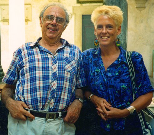 ATL with Sculptor Marcello Tomasi in Pietra Santa 1989