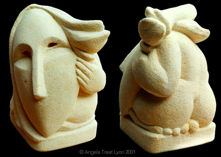 "Who Am I? NZ Oamaru Limestone, 12"" x 12"" x 12"" (sold)"
