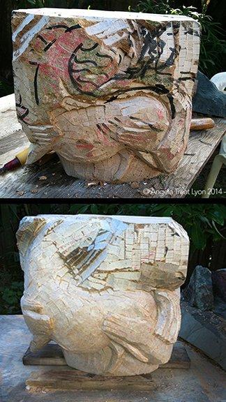 We Two, sculpture by Angela Treat Lyon, in progress