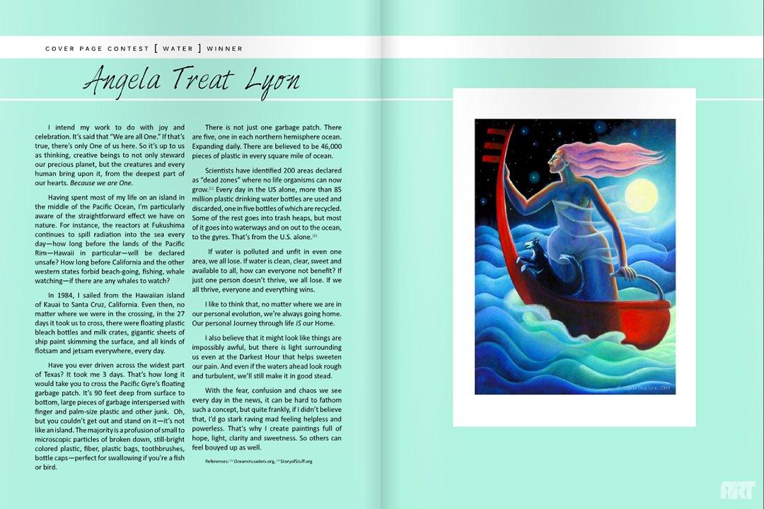 Women's Art Magazine 278 Article by Angela Treat Lyon #1