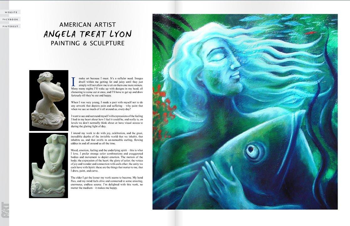 Women's Art Magazine 278 Article by Angela Treat Lyon #2
