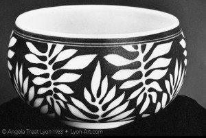 """Leaf Bowl, porcelain, 4"""" w x 3"""" h"""