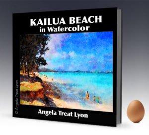 Kailua Beach in Watercolor
