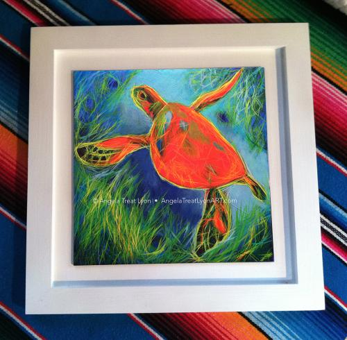 Red Sea Turtle (framed)