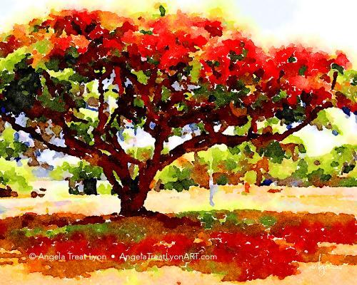 Red School Tree