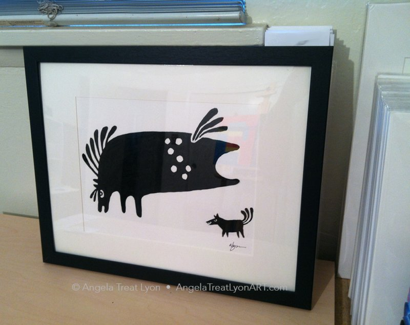 An example of what the prints look like Framed
